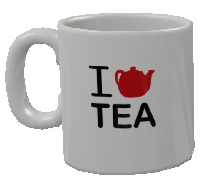 Mug - I <3 Tea (Kupa - I <3 Tea) for Euro Truck Simulator 2.