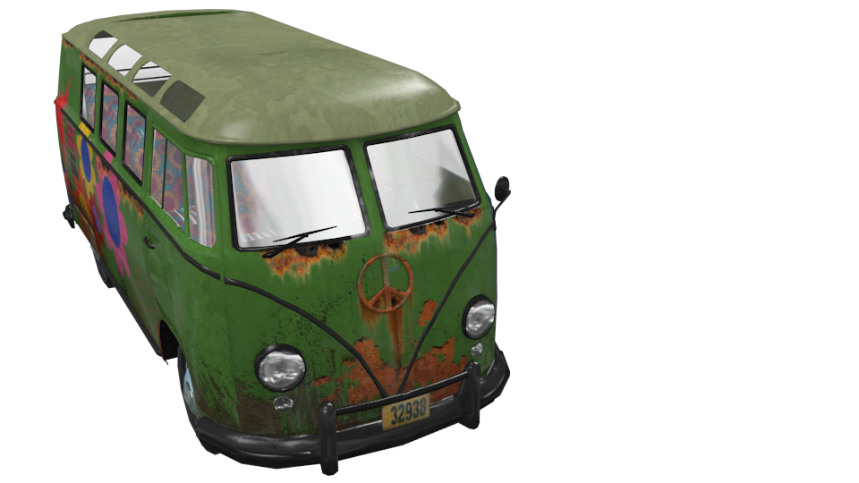 Volkswagen T1 Flower Power for Euro Truck Simulator 2.