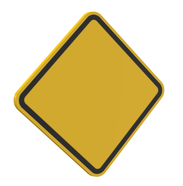 Caution Sign (Customizable) (Caution Sign (Özelleştirilebilir)) for Euro Truck Simulator 2.