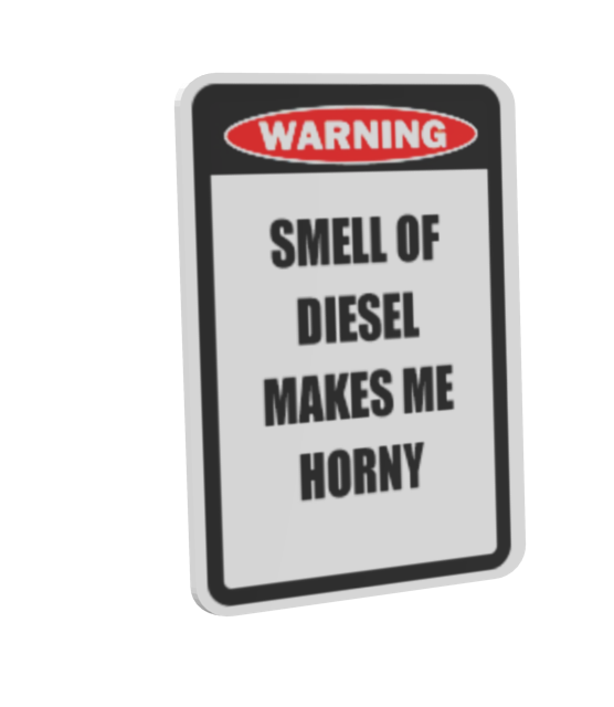 Warning Sign - Diesel (Uyarı Levhası - Diesel) for Euro Truck Simulator 2.