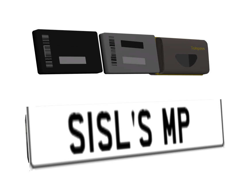 Plate & Telepass Devices (Plate & Otomatik Geçiş Sistemleri) for Euro Truck Simulator 2.