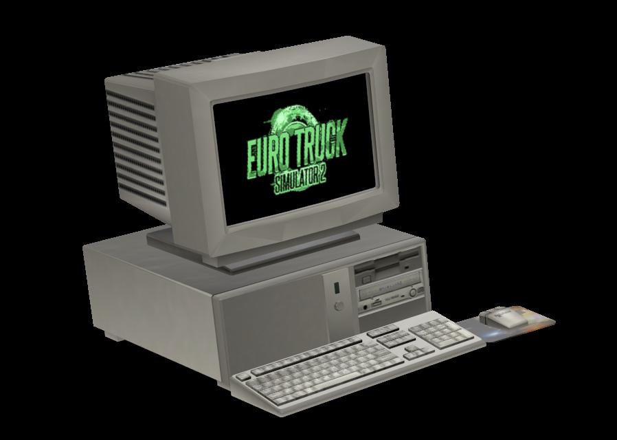 Retro Computer Toy (Customizable) (Retro Computer Toy (Özelleştirilebilir)) for Euro Truck Simulator 2.