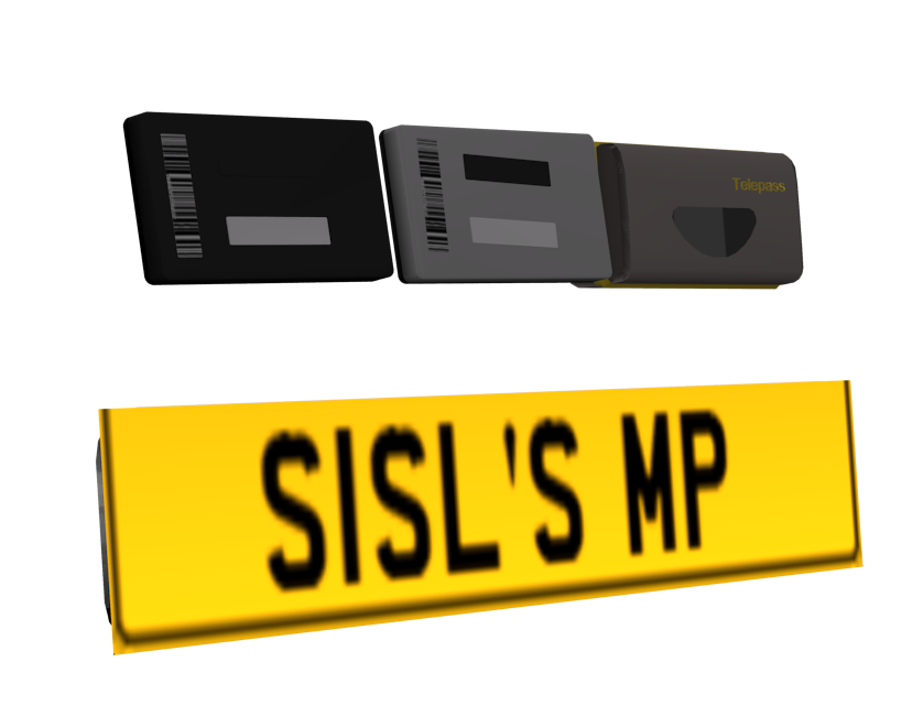 Plate & Telepass Devices (Yellow) (Plate & Telepass Devices (Sarı)) for Euro Truck Simulator 2.