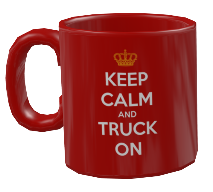 Mug - Keep Calm (Kupa - Keep Calm) for Euro Truck Simulator 2.