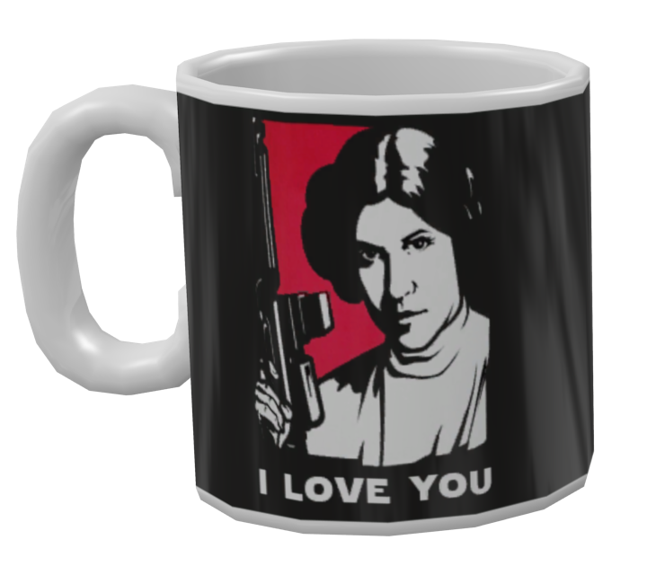 Mug - I love you (Kupa - I love you) for Euro Truck Simulator 2.