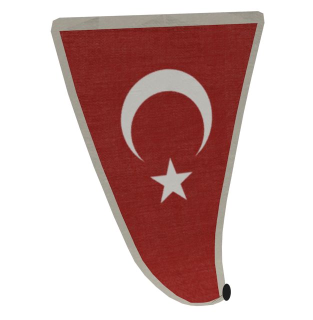 Big Flag (Customizable) (Büyük Bayrak) for Euro Truck Simulator 2.