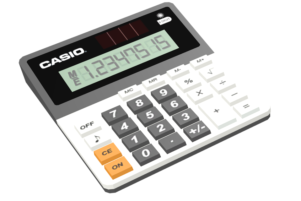Tabletop Calculator (Masaüstü Hesap Makinesi) for Euro Truck Simulator 2.