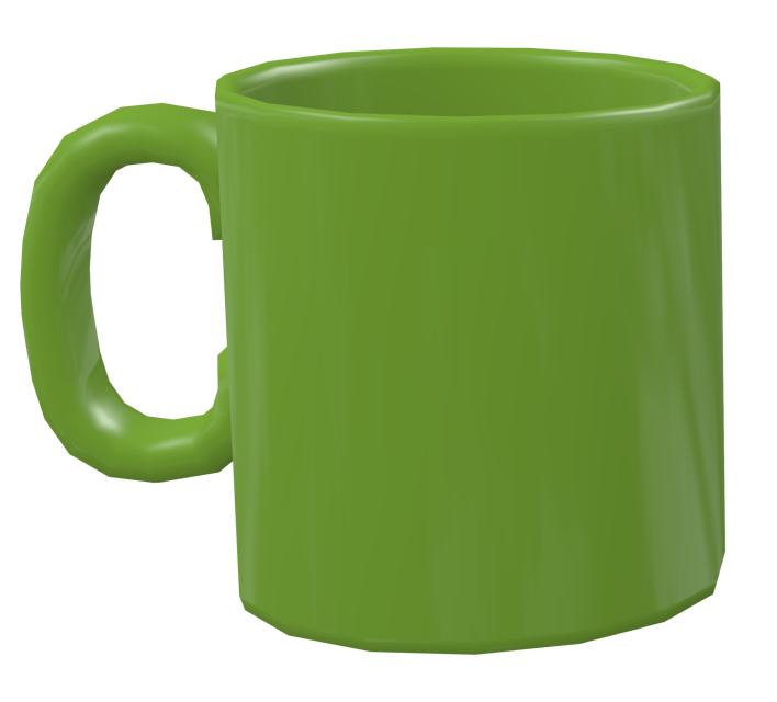 Color Mug - Pistachio Green (Renkli Kupa - Fıstık Yeşili) for Euro Truck Simulator 2.