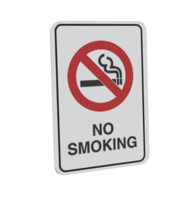 Warning Sign - No Smoking (Uyarı Levhası - No Smoking) for Euro Truck Simulator 2.