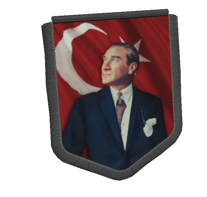 Big Pennant - Atatürk (Büyük Flama - Atatürk) for Euro Truck Simulator 2.