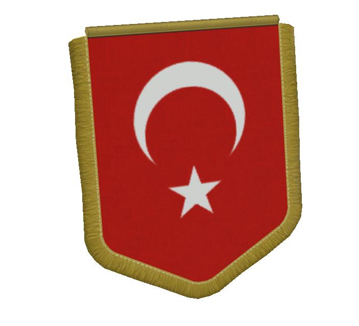 Big Pennant - Türkiye (Büyük Flama - Türkiye) for Euro Truck Simulator 2.