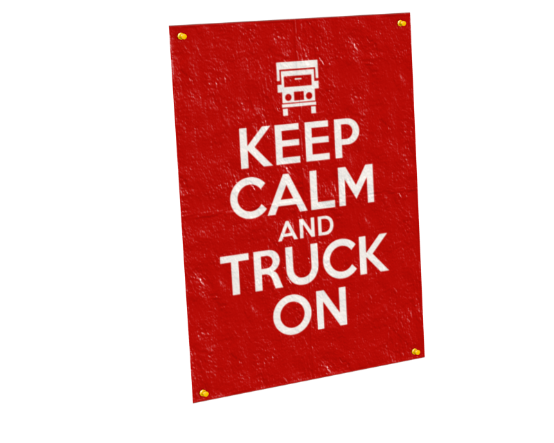 Poster Vertical (Customizable) (Poster Dikey (Customizable)) for Euro Truck Simulator 2.