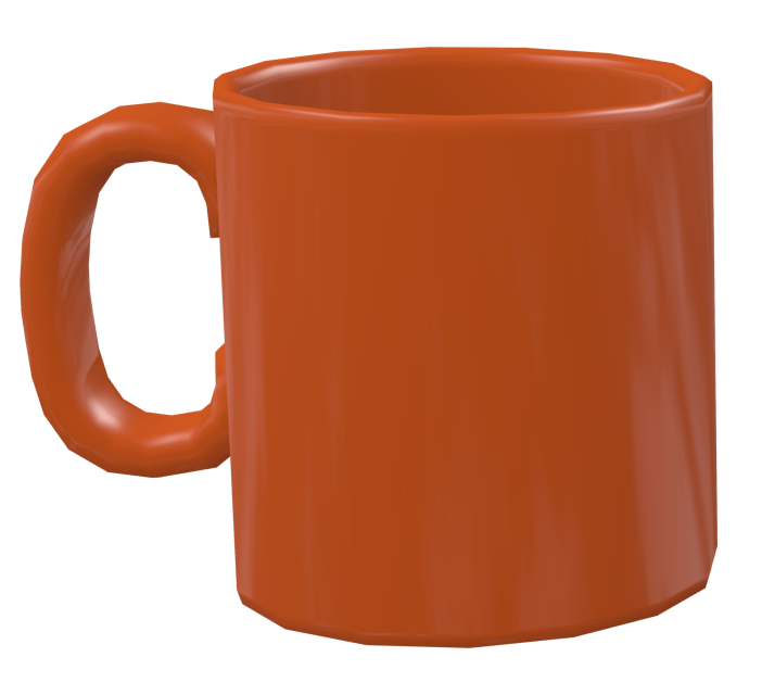 Color Mug - Orange (Renkli Kupa - Turuncu) for Euro Truck Simulator 2.