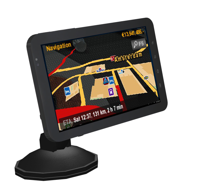 Tablet GPS for Euro Truck Simulator 2.