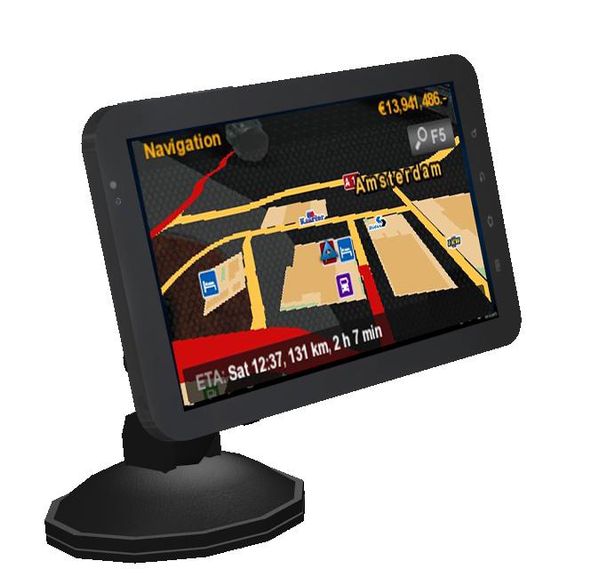 Tablet GPS for Euro Truck Simulator 2.
