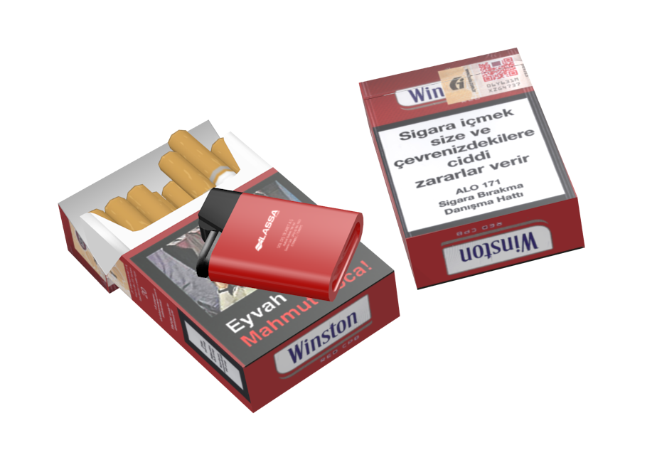 Cigarette - Winston Red (Sigara - Winston Kırmızı) for Euro Truck Simulator 2.