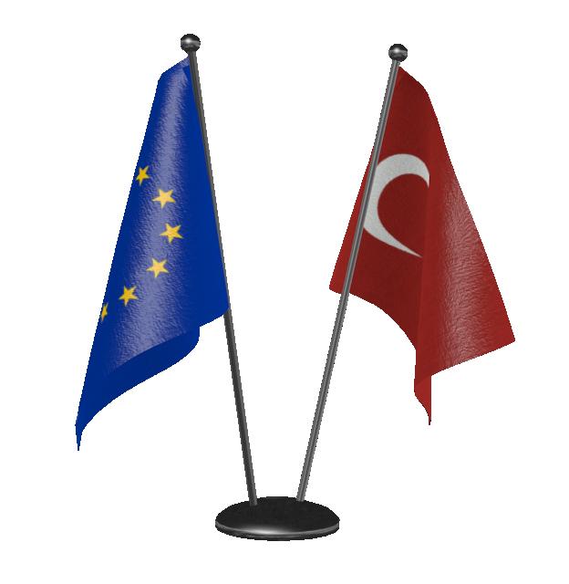 Table Double Flags (Customizable) (Masaüstü Çift Bayrak (Özelleştirilebilir)) for Euro Truck Simulator 2.
