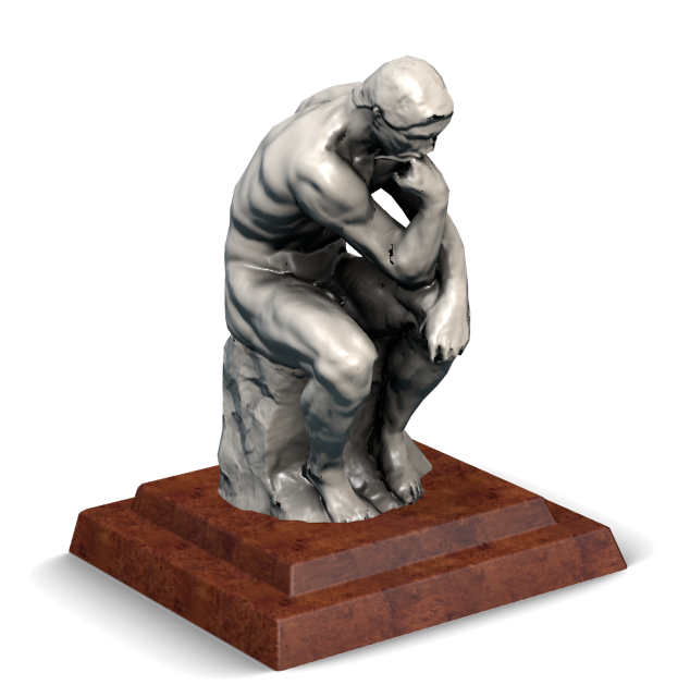 Statue of The Thinker by Rodin for Euro Truck Simulator 2.
