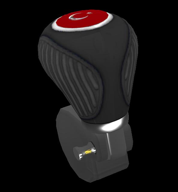 Knob: Standard V2 Black (Customizable) (Topuz: 8-Ball) for Euro Truck Simulator 2.