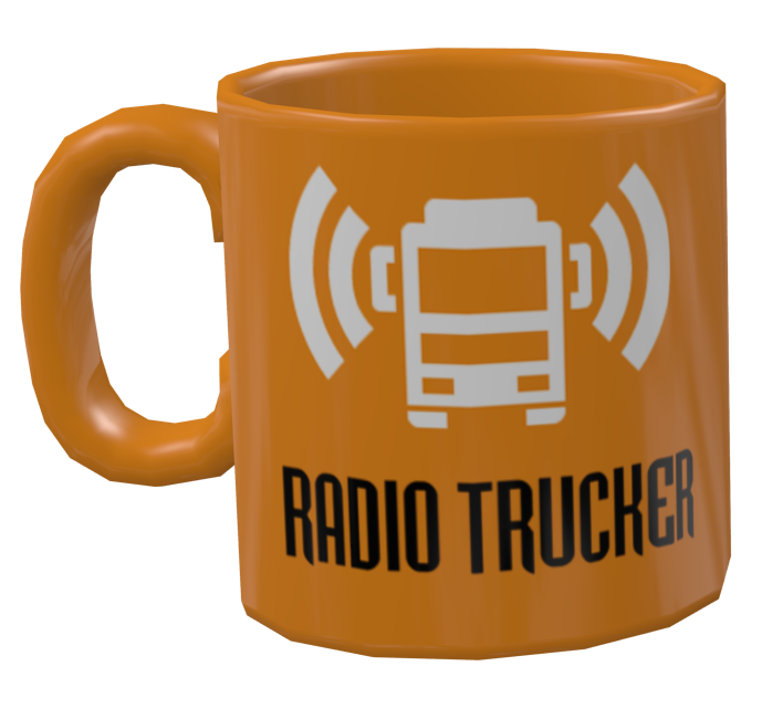 Mug - Radiotrucker (Kupa - Radiotrucker) for Euro Truck Simulator 2.